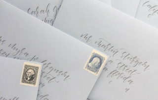 Including the proper amount of wedding invitation postage is incredibly important. Standard USPS stamps are one of three options for your postage. You also want to make sure your envelope addressing is correct.   Custom wedding invitations by Little Fox Paperie   Chicago, Illinois   Gracie Nunez