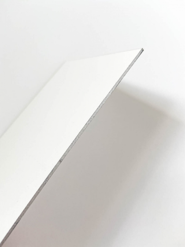 Double thick paper with silver edge painting.