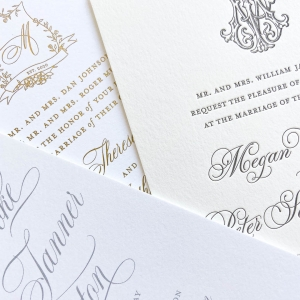 Printing methods - digital, letterpress, and foil stamping